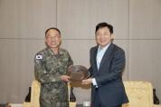 원희룡 제주도지사-부석종 해군참모총장, 제주공항 의전실서 면담